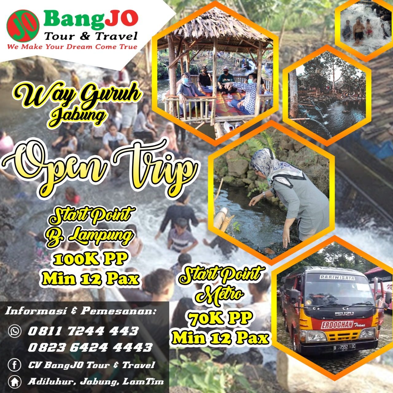 Bangjo Tour and Travel Siap Antarkan Berwisata Ke Way Guruh
